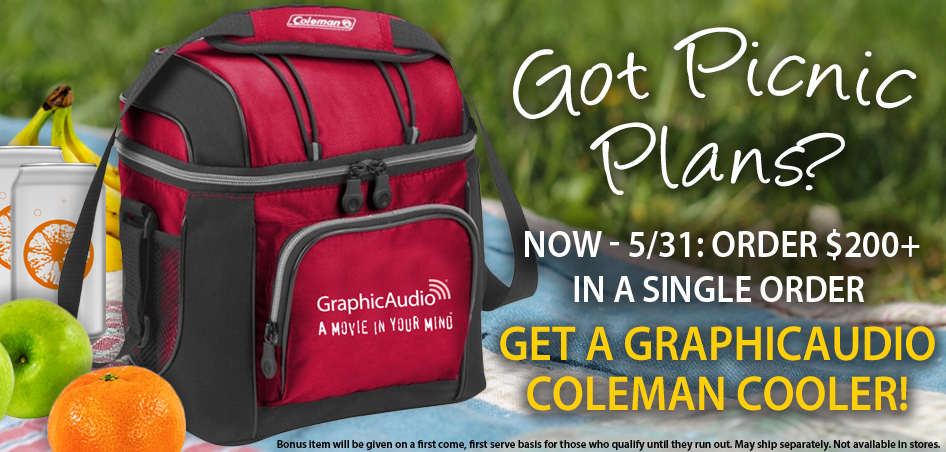Spend $200 in one order a get a GraphicAudio Coleman Cooler!