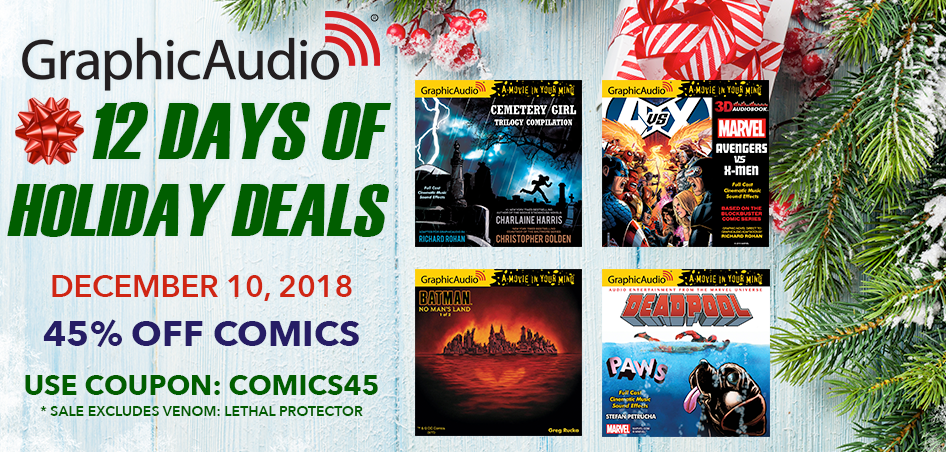 Day Ten - Take 45% Off COMICS Today Only with Coupon Code: COMICS45 (Sale Excludes VENOM: LETHAL PROTECTOR)