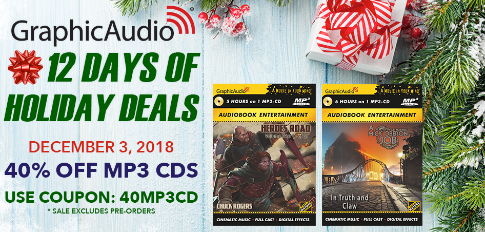 Day Three - MP3-CDs are 40% Off Today Only with coupon code 40MP3CD (excludes pre-orders)