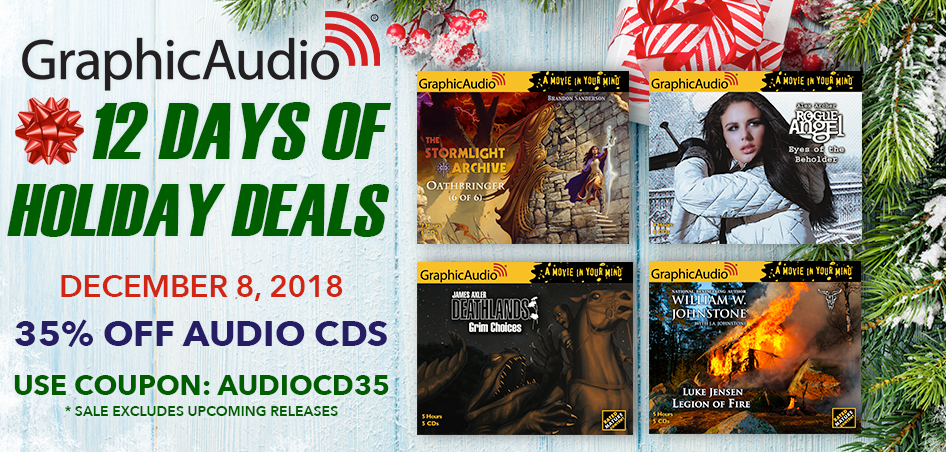 Day Eight - Take 35% Off Audio CDs Today Only with Coupon Code: AUDIOCD35 (sale excludes upcoming releases)