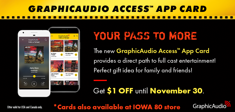 New GraphicAudio Access App Code Cards. Great for Gifts!