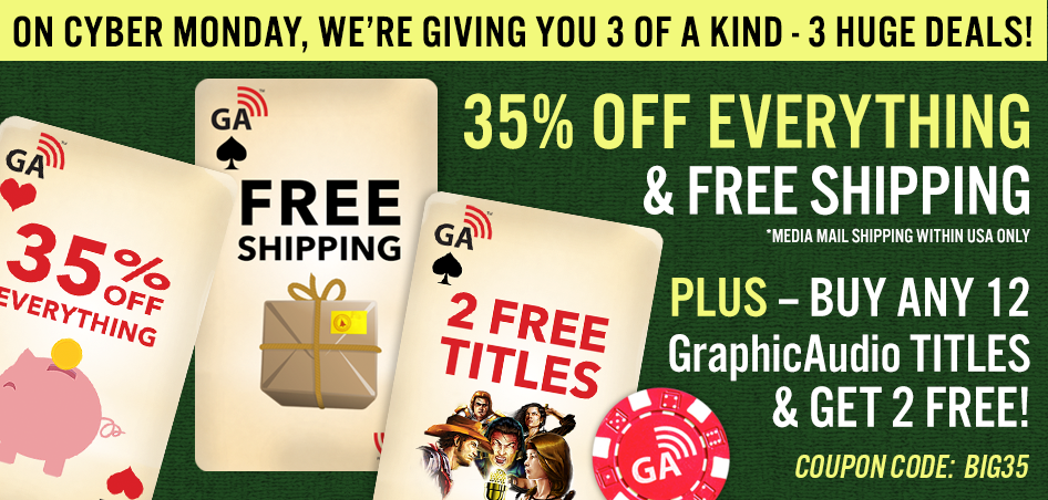 Save 35% OFF Everything and Free Shipping when you use coupon BIG35 in the cart today only. Plus - Buy ANY 12 titles get 2 free!