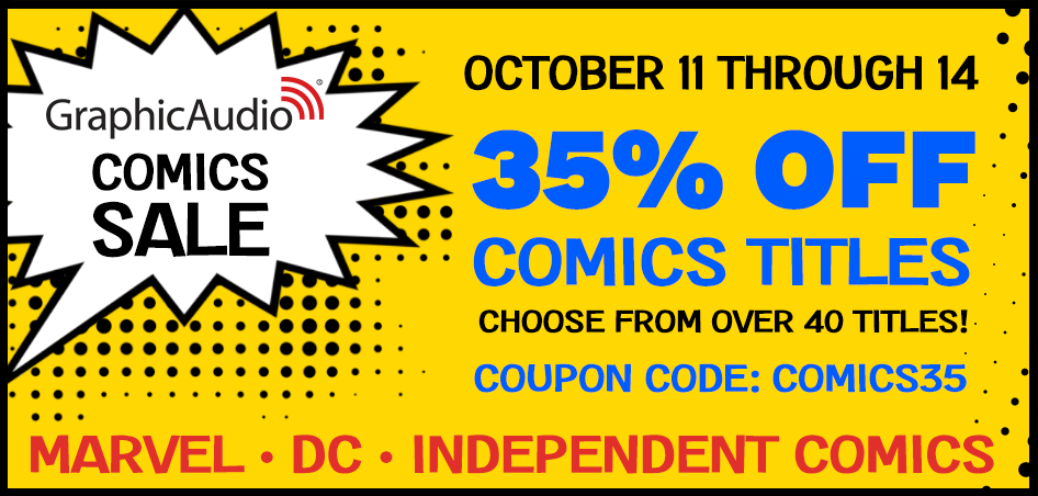 Use coupon COMICS35 for 35% OFF COMICS TITLES. Valid today through Sunday October 14.