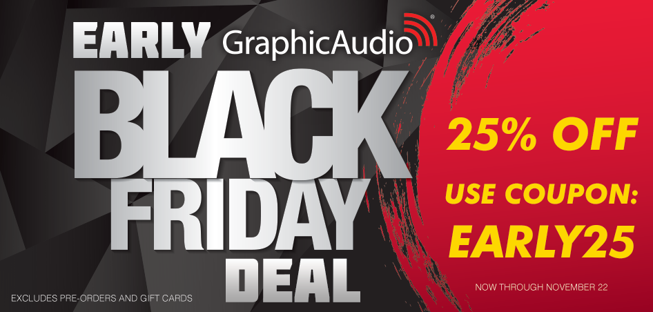25% Off Early Black Friday Deal with coupon EARLY25 (excludes pre-orders and gift cards)