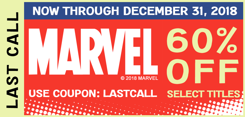 21 Marvel Titles are ending on December 31. Take 60% Off these select Marvel titles only with coupon: LASTCALL