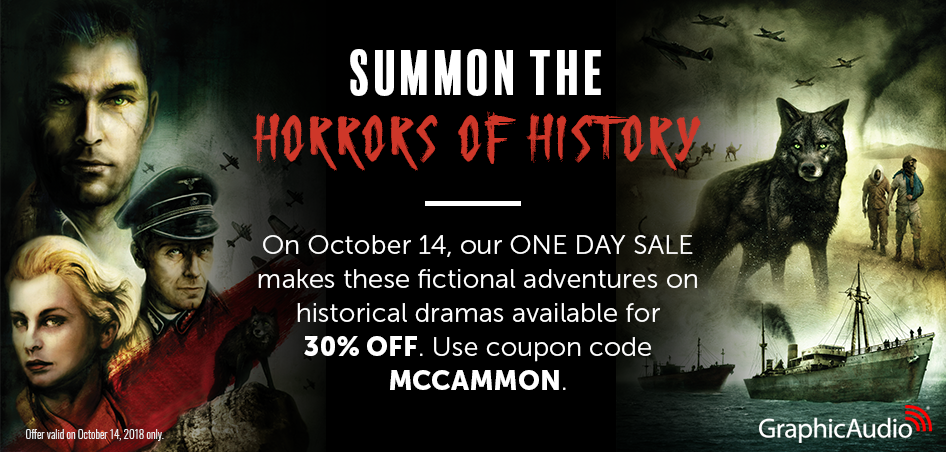 Use coupon MCCAMMON for 30% OFF WOLF'S HOUR AND TREVOR LAWSON series. Valid today only!